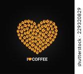 coffee beans love concept... | Shutterstock .eps vector #229320829