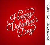 valentine day vintage lettering ... | Shutterstock .eps vector #229320844