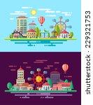 modern vector flat design... | Shutterstock .eps vector #229321753