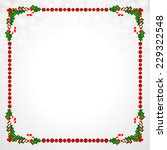 christmas frame with holly... | Shutterstock .eps vector #229322548