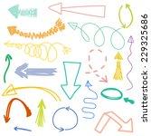 Vector Set Of Hand Drawn Arrows ...