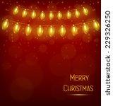 yellow led christmas lights... | Shutterstock .eps vector #229326250
