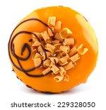 orange donut isolated on white... | Shutterstock . vector #229328050