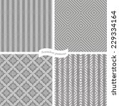 collection of seamless tweed... | Shutterstock .eps vector #229334164