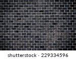 black tile wall | Shutterstock . vector #229334596