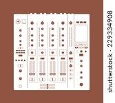 Recording Mixer. Dj Icon. Dj...