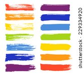 vector set of colorful brush... | Shutterstock .eps vector #229334920