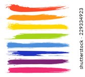vector set of colorful brush... | Shutterstock .eps vector #229334923