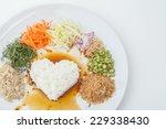 nasi kerabu or kao yum  southen ... | Shutterstock . vector #229338430