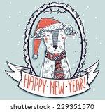 new year vector illustration... | Shutterstock .eps vector #229351570