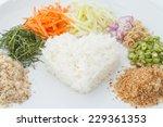 nasi kerabu or kao yum  southen ... | Shutterstock . vector #229361353