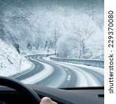 Winter Driving   Curvy Snowy...