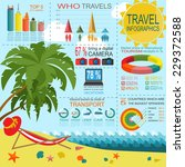 travel. vacations. beach resort ... | Shutterstock .eps vector #229372588