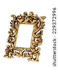 golden picture frame in... | Shutterstock . vector #229372996