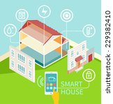 flat design concept of smart... | Shutterstock .eps vector #229382410