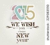 2015 vintage | Shutterstock .eps vector #229383550