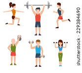 icons set of man and woman... | Shutterstock .eps vector #229384690