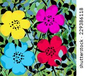 abstract flower background ... | Shutterstock .eps vector #229386118