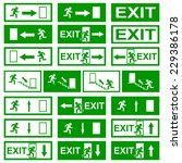 exit signs | Shutterstock .eps vector #229386178