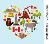 canada colored decorative... | Shutterstock .eps vector #229386208