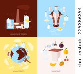 milk dairy product flat icons... | Shutterstock .eps vector #229386394