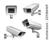 surveillance camera safety home ... | Shutterstock .eps vector #229386469
