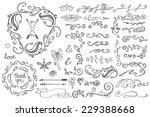 doodles border frame brushes... | Shutterstock .eps vector #229388668