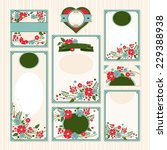 set of floral wedding cards... | Shutterstock .eps vector #229388938