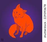 red cute fox silhouette design. ... | Shutterstock .eps vector #229393678