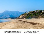 Beach In Malibu  California...