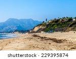 Beach In Malibu  California...