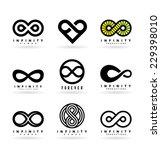 infinity symbols  1  | Shutterstock .eps vector #229398010