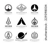 astronautics. spaceships  3  | Shutterstock .eps vector #229398034