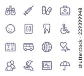 medicine web icons set | Shutterstock .eps vector #229399948