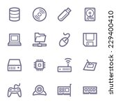 computer components web icons... | Shutterstock .eps vector #229400410