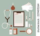 desk doctor illustration | Shutterstock .eps vector #229405264