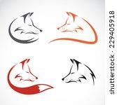 vector image of an fox design... | Shutterstock .eps vector #229405918