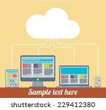 flat design cloud computing... | Shutterstock .eps vector #229412380