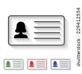 woman's id card icon   black...