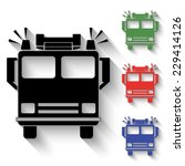 fire engine icon   black and... | Shutterstock .eps vector #229414126
