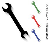 wrench icon   black and colored ...