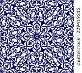 mediterranean floral ornament ... | Shutterstock .eps vector #229419313