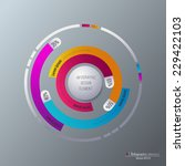vector infographic template.... | Shutterstock .eps vector #229422103