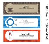 food banners. vector | Shutterstock .eps vector #229423588