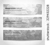 set of trendy silver triangular ... | Shutterstock .eps vector #229432228