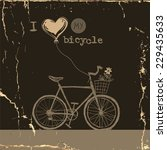i love my bicycle  eps 10... | Shutterstock .eps vector #229435633