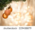 christmas ornaments with... | Shutterstock . vector #229438879