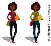 cute african american student...   Shutterstock .eps vector #229444336