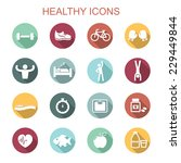 healthy long shadow icons  flat ... | Shutterstock .eps vector #229449844
