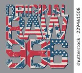 Denim Typography  T Shirt...